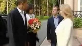 080709 Обаме в гостях у Медведева понравилось
