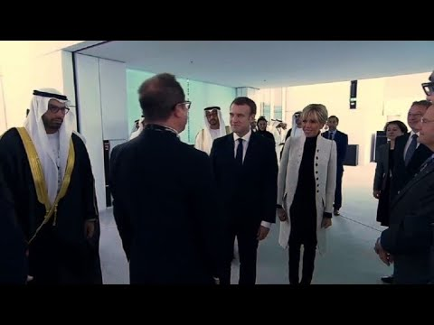 French President arrives to inaugurate the Louvre Abu Dhabi