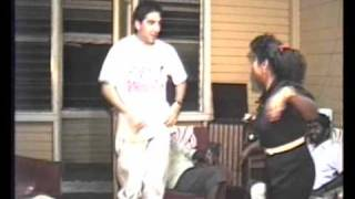 Guyana 1991-(video 026)-Jon dancing to Indian song with Judy