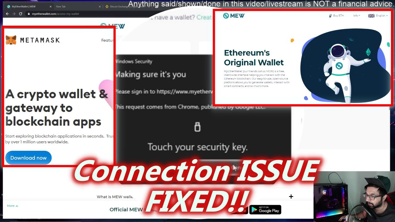 LEDGER NANO MyEtherWallet.com & MetaMask Connection Issue FIXED 2021
