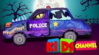 Scary Police Car | Formation And Uses | Video For Kids | Puzzle Video For Kids