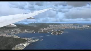 Korean air 607 RKSI-VHHH(Chek Lap Kok) with passenger view,fsx,pmdg 777