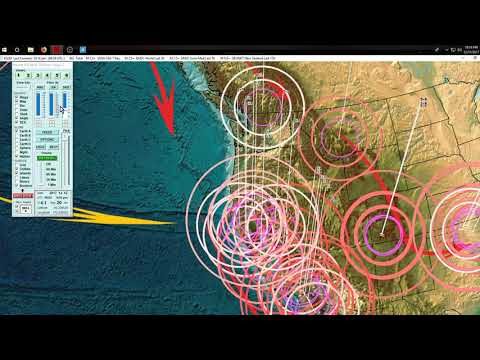 12/11/2017 -- West Coast California Volcano activity -- Multiple earthquake swarms + possible plumes