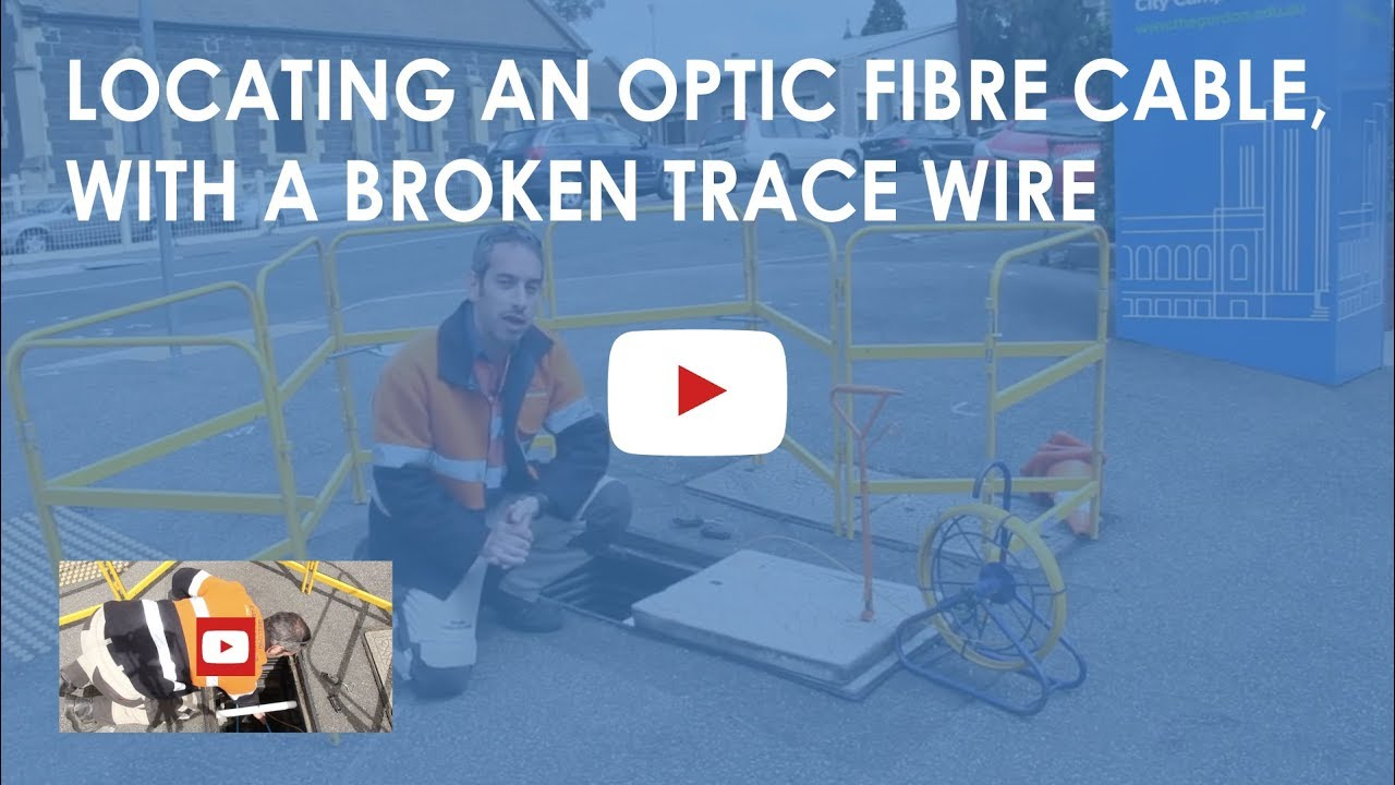 Locating an optic fibre cable, with a broken trace wire. - YouTube