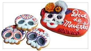 How To Decorate Sugar Skull Cookies   Day Of The Dead Skull