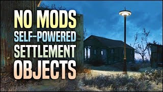 Self-Powered Settlement Objects 🔋 Fallout 4 No Mods Shop Class
