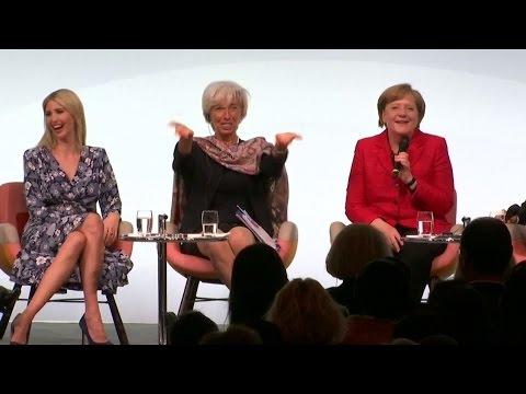 """Lacher auf Frauengipfel in Berlin: """"Sind Sie eine Feministin, Frau Merkel?"""""""