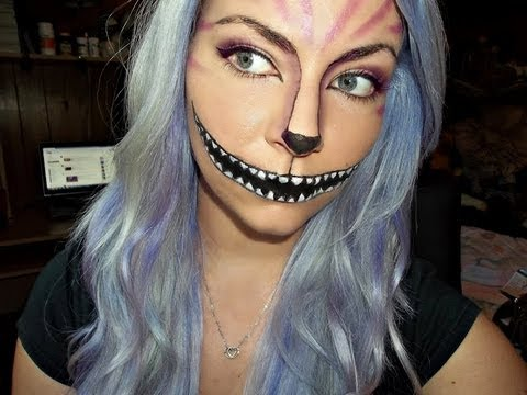 halloween tutorial cheshire cat makeup youtube. Black Bedroom Furniture Sets. Home Design Ideas