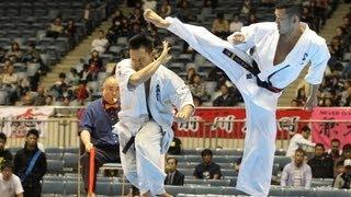 【新極真会】第44回全日本空手道選手権大会 男子3回戦 島本一二三 VS 森...