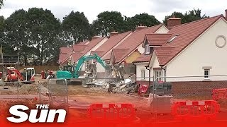 Disgruntled builder demolishes street over