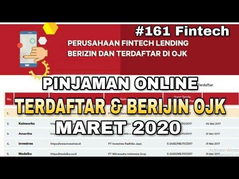 Pinjaman Online Terdaftar Dan Berijin Ojk Terbaru Maret 2020 Youtube