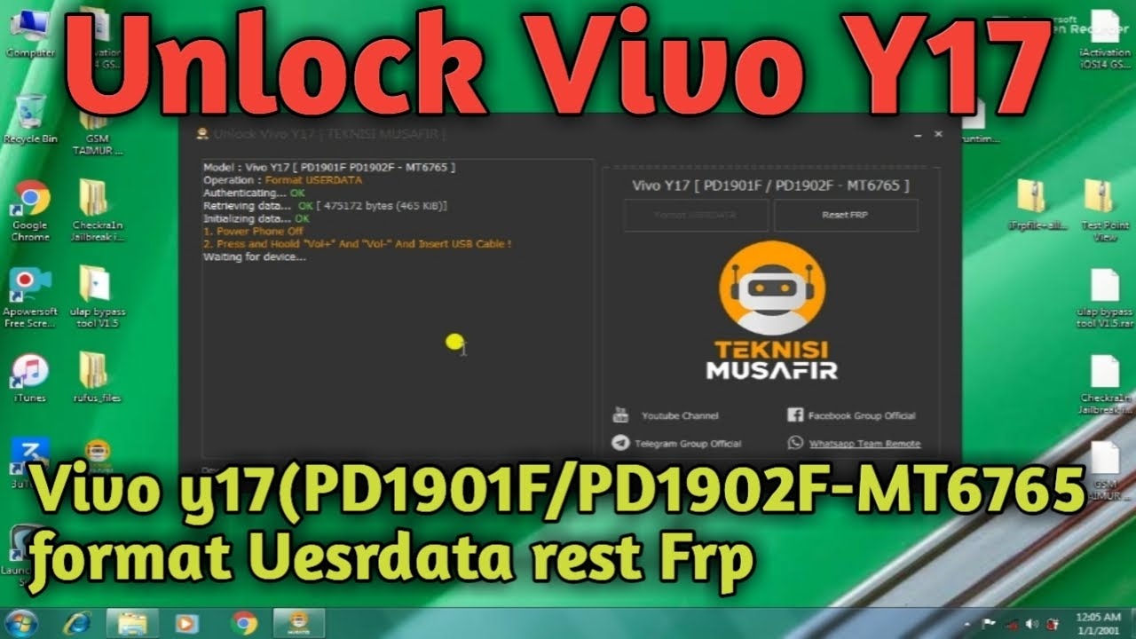 Photo of Unlock Tool _Y17-Setup VIVO Y17, [PD1901F/PD1902F-MT6765] FORMATUESRDATA, REST FRP 2021