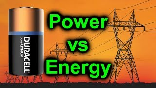 EEVblog #1009 - Voltage vs Power vs Energy