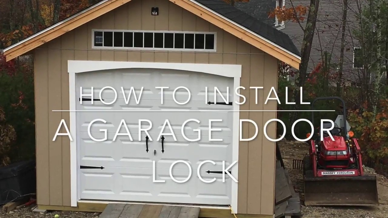 How To Install A Garage Door Lock Youtube