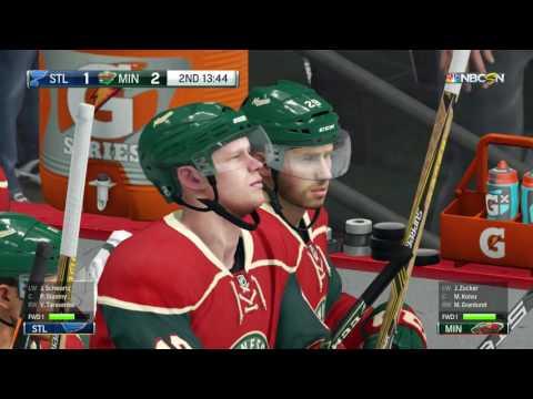 NHL 17 PS4 Minnesota Wild vs St  Louis Blues Beta Test Game 4 22 2017