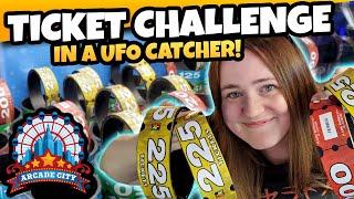 Pick them UP! UFO Catcher Claw Machine Ticket Challenge at Arcade City Las Vegas