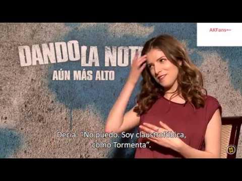 Anna Kendrick Spanish Press Junket Interview (Pitch Perfect 2)