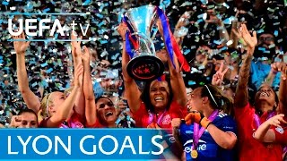 Lyon's UEFA Women's Champions League treble
