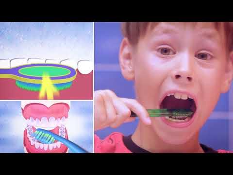 Как чистить зубы видео