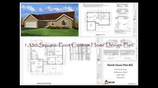 1,330 Square-foot Custom Home Design Plan #62