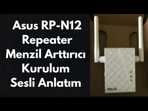 ASUS RP - N12 Repeater Menzil Arttırıcı Kurulum