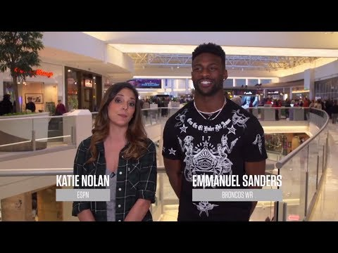 Katie Nolan and Emmanuel Sanders help fans shop at the Mall of America | ESPN