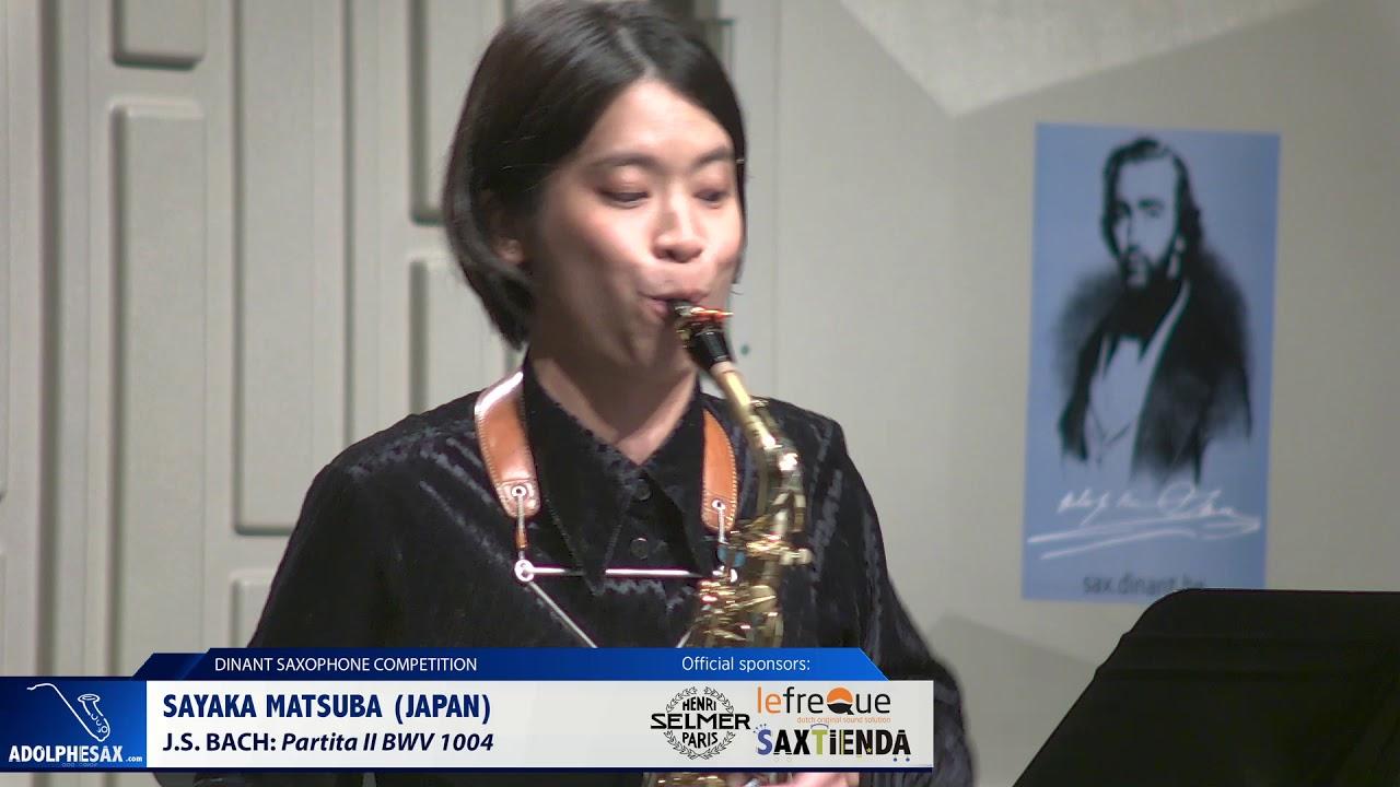 Sayaka Matsuba (Japan) -  Partita II BWV 1004 by  J.S.Bach (Dinant 2019)