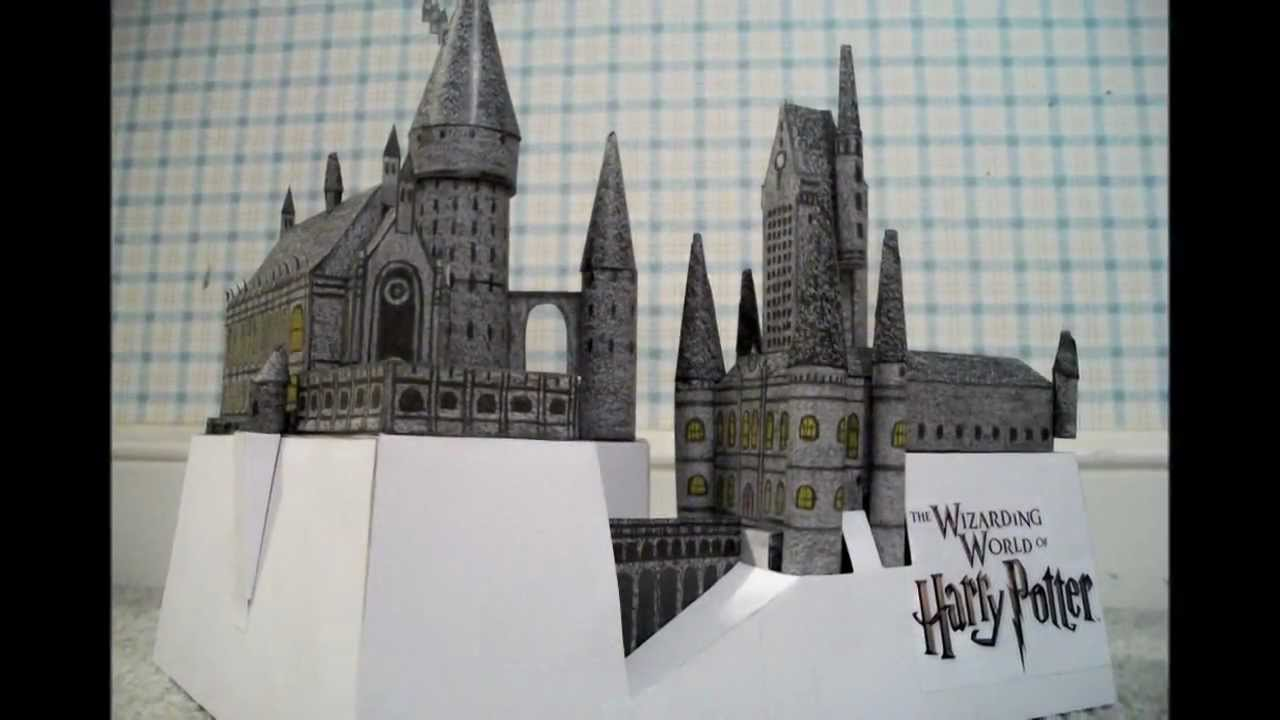 Mini Paper Model Of The Hogwarts School Castle From The