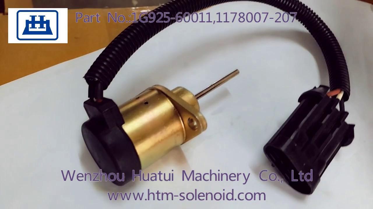 Fuel Stop Solenoid 6691498 Fits Bobcat S185 Skid Steer 1503es Wiring Diagram 12a5uc4s