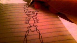 как правильно рисовать скелета!!!,!!!,!!:-) :-) :-