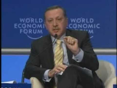Turkish Prime Minister clashed with Peres in Davos
