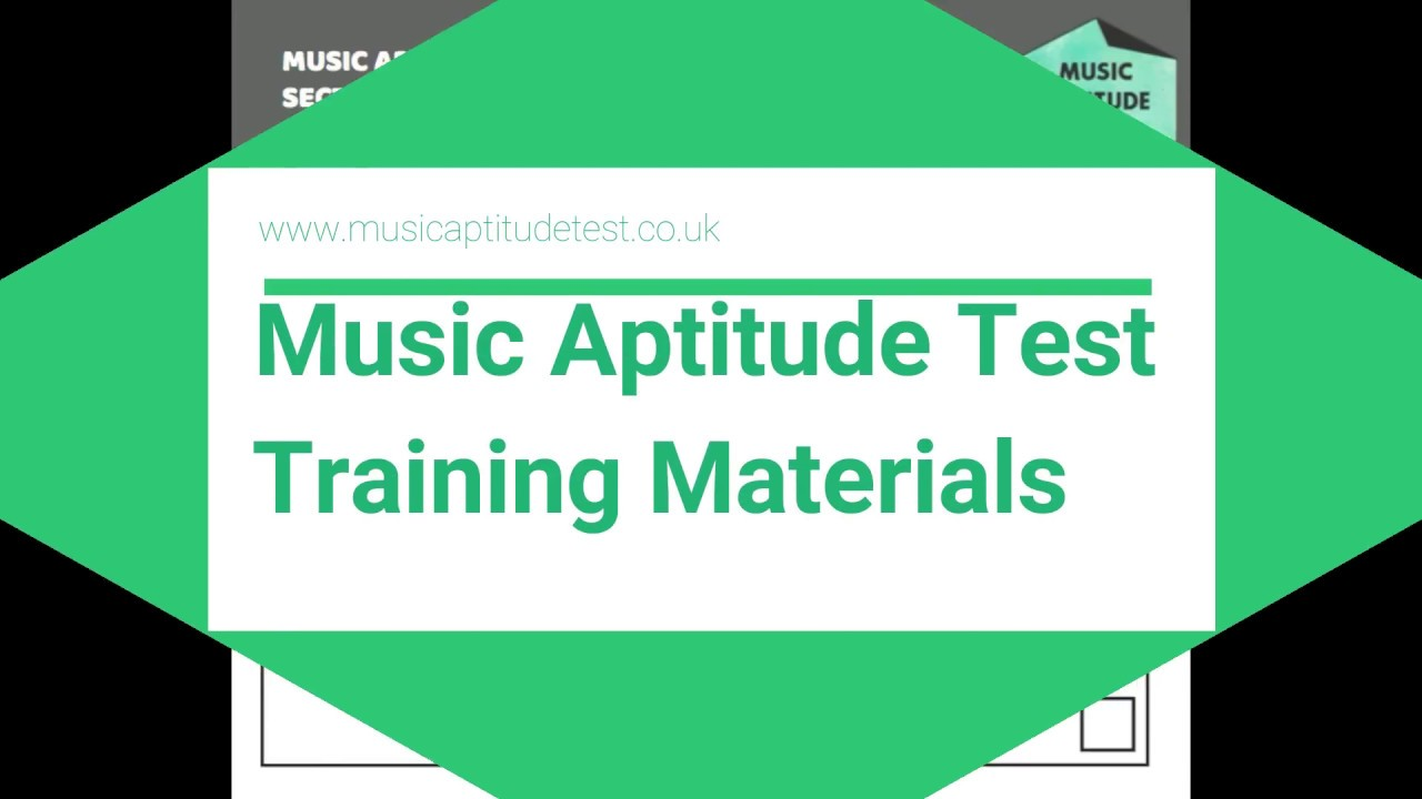 7 Section Music Aptitude Test With Graphic Scores Youtube