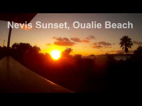 Oualie Beach Sunset Nevis Island - St Kitts and Nevis