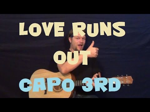 Love Runs Out (OneRepublic) Easy Strum Guitar Lesson How to Play Tutorial