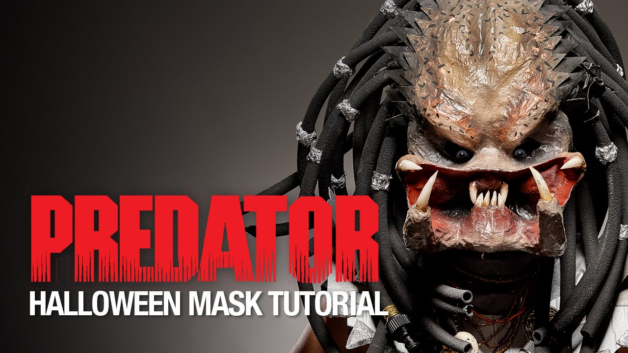 & Predator Halloween mask tutorial - YouTube