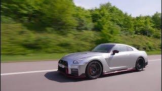 Gran Turismo Series Producer Kazunori Yamauchi drives the latest Nissan GT-Rs in Germany