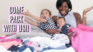 pack with us traveling with a newborn and toddler