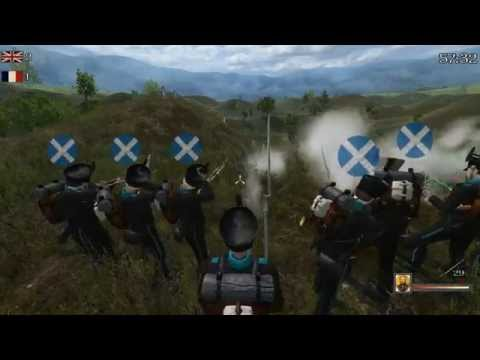 Mount & Blade Napoleonic Wars LB Highlights - 93rd Vs. 1stUS