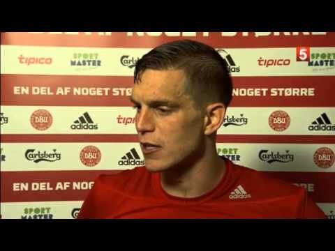 Daniel Agger: I decide who takes the penalties post Denmark 2-0 Serbia Interview 13/06/15