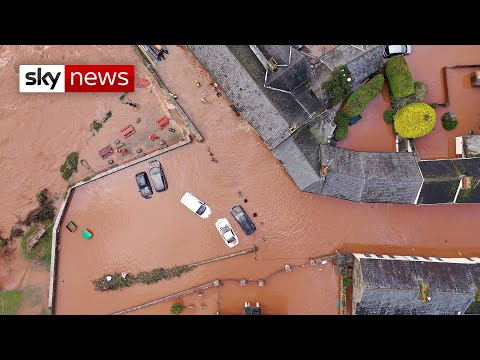 Storm Dennis wrecks havoc across UK