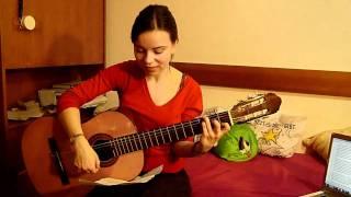 German girl singing Pakistani song(Atif Aslam) in Urdu, sweet