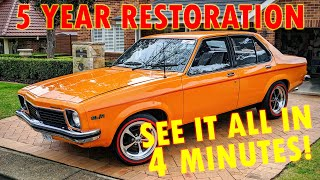 1976 Holden SL/R Torana  - FULL RESTO in 4 MINUTES!