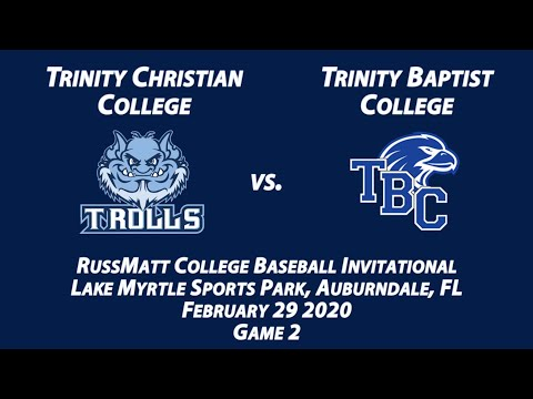 2020-02-29 - TCC vs. Trinity Baptist College (Game 2 of DH)