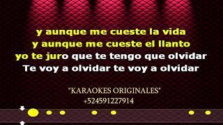 Karaoke/Te voy a olvidar (CON LETRA)