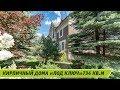 Летняя съемка монументального кирпичного коттеджа на великолепном зеленом участке в Бачурино