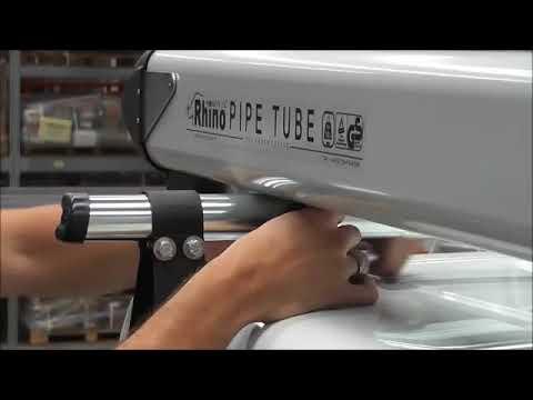 Strešný nosič na rúry, trubky a iné dlhé predmety - Rhino Pipe Tube - ukážka montáže
