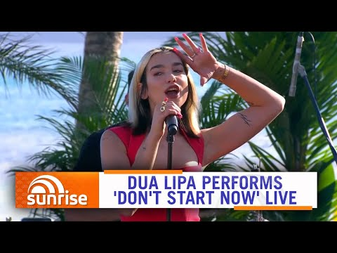 Dua Lipa performs &39;Don&39;t Start Now&39;  on Hamilton Island Australia  Sunrise