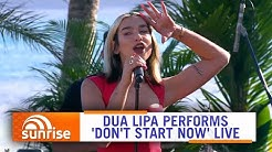 Dua Lipa performs 'Don't Start Now' live on Hamilton Island, Australia | Sunrise