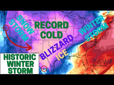 Historic Winter Storm! Blizzard Conditions, Ice & Record Cold! - POW Weather Channel