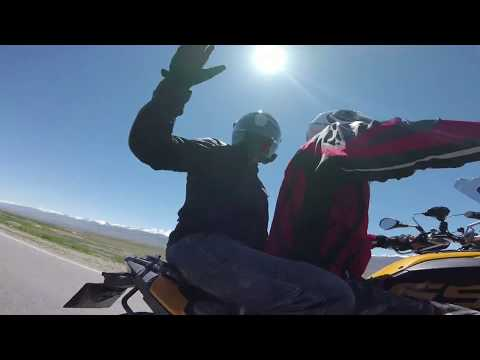 Travelling around Kyrgyzstan. Motorcycles trip around Kyrgyzstan with indian bikers.